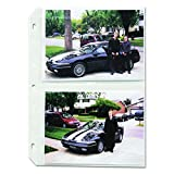 C-Line 52572 Clear Photo Pages for Four 5 x 7 Photos, 3-Hole Punched, 11-1/4 x 8-1/8 (Box of 50)