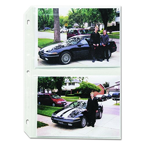 C-Line Clear Photo Pages for Four 5 x 7 Photos, 3-Hole Punched, 11-1/4