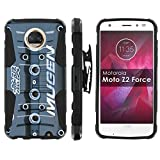 valve cover phone case - [Mobiflare] Armor Case for Moto Z Force/Z Play [2nd Generation] [Black/Black] Blitz Armor Phone Case with Holster [Moto Z2 Force] [Moto Z2 Play]- [Mugen Valve Cover]