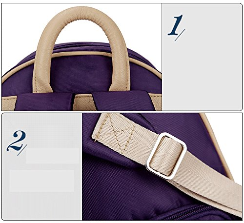 Bolso de leche de espalda, paquete fresco de leche materna de hombro, paquete de hielo de leche de almacenamiento, bolsas de aislamiento de hielo azul, bolsa de mamá al aire libre ( Color : Purple ) Purple