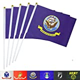 TSMD US Navy Stick Flag 50 Pack Small Mini Handheld United States Military Flags On Stick,Decorations Supplies for Army Party Events Celebration