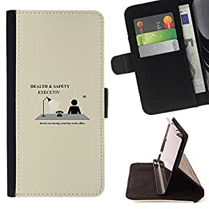 Momo Phone Case / Flip Funda de Cuero Case Cover - Health & Safety Executive - Funny - Sony Xperia Z2 D6502