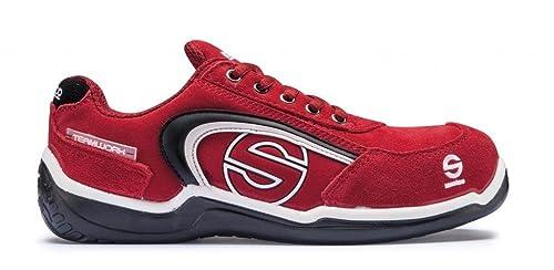 Sparco M255899 - Zapato Seguridad Sport Low Rojo Talla 42: Amazon.es: Zapatos y complementos
