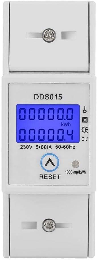 DDS015 Misuratore elettrico DIN-Rail digitale Misuratore di energia LCD monofase 10-40 A elettronico Kilowattora KWh Contatore Wattmetro Consumo energetico Contatore