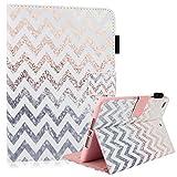 iPad Mini/ Mini Retina/Mini 3 Case, Dteck(TM) Ultra Slim [Lightweight] PU Leather Flip Folio Smart Stand Case Cover with [Auto Wake/Sleep Function] for Apple iPad Mini 3/ 2/ 1 (Pink Waves)