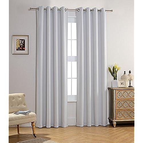Kids White Blackout Curtains