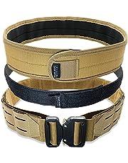 Bear Armz Tactical Battle Belt   Molle Riggers Belt   Duty Belt   Heavy Duty Anti-Slip Pad & Inner Belt Comb   2-In-1 System