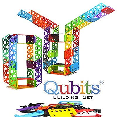 Qubits STEM Construction Set - 42 Pieces: an Open Play Engineering and Building Toy for Kids Ages 4 and Up: Toys & Games