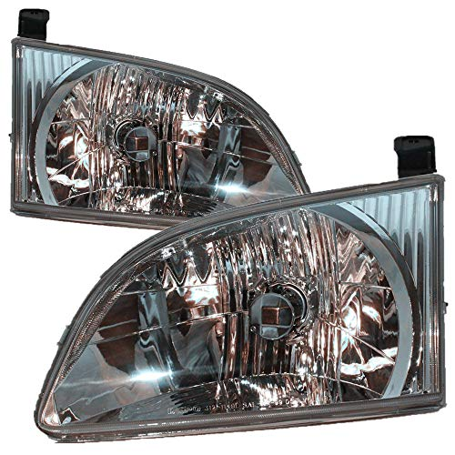 For 2001 2002 2003 Toyota Sienna Headlight Headlamp Assembly Driver Left and Passenger Right Side Pair Set Replacement TO2502135 TO2503135
