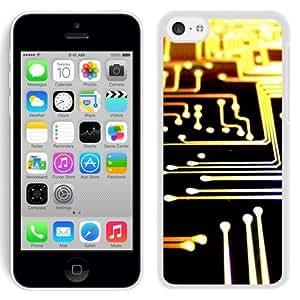NEW Unique Custom Designed iPhone 5C Phone Case With Printed Circuit Board Lockscreen_White Phone Case wangjiang maoyi