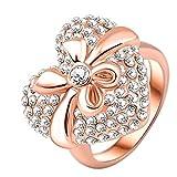 "RI06027 ""Selfless Love."" Austrian Crystal 18K Ring"
