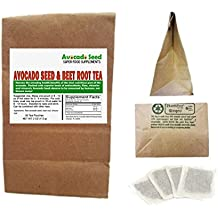 30 Avocado Seed + Beet Root Tea Bags - 100% Certified Healthy! Liver Detox, Energy,Nitric Oxide, Blood Flow, Erectile Function, Digestion, Cholesterol, Weight Loss & More