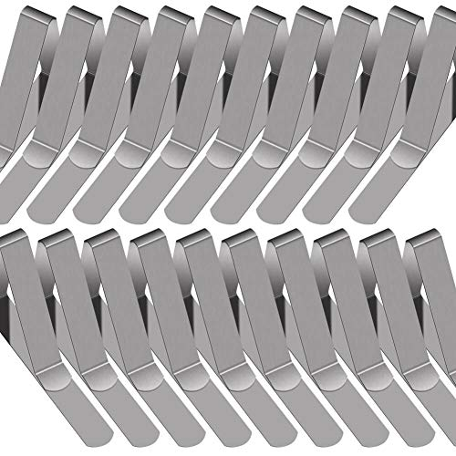 PAXCOO 30 Packs Tablecloth Clips Stainless Steel Table