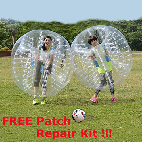 Inflatable Bumper Ball Upgrade Quanlity,1.2M 4FT/1.5M 5FT Diameter Inflatable Bumper Ball,Bubble Soccer Ball + Free Patch Repair Kit (Transparent 1.5M/5FT) For Sale