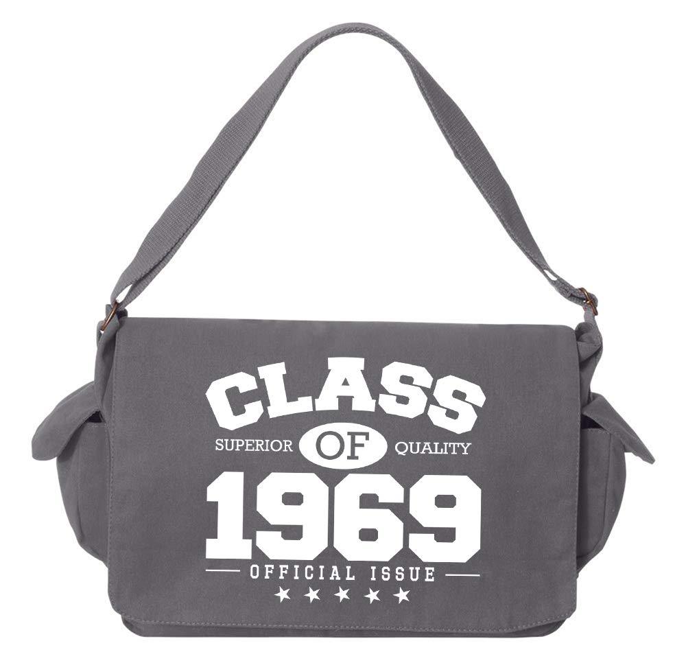 Tenacitee Class of 1969 Grey Brushed Canvas Messenger Bag