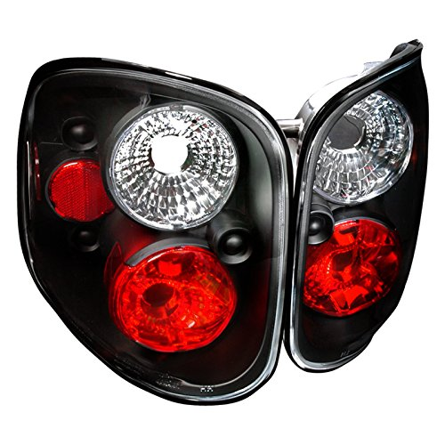 Spec-D Tuning LT-F150F97JM-TM Ford F150 Xl Xlt Flareside Black Housing Tail (03 F150 Flareside Tail Lights)