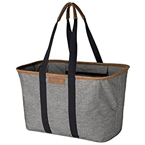 CleverMade 30L SnapBasket LUXE - Reusable Collapsible Durable Grocery Shopping Bag - Heavy Duty Large Structured Tote… 3