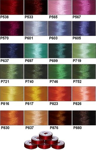 (144 Prewound Bobbins - 24 Colors