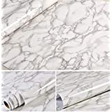 Grey Granite Look Marble Gloss Film Vinyl Self Adhesive Counter Top Contact Paper Peel and Stick Wall Decal (24''x195'')