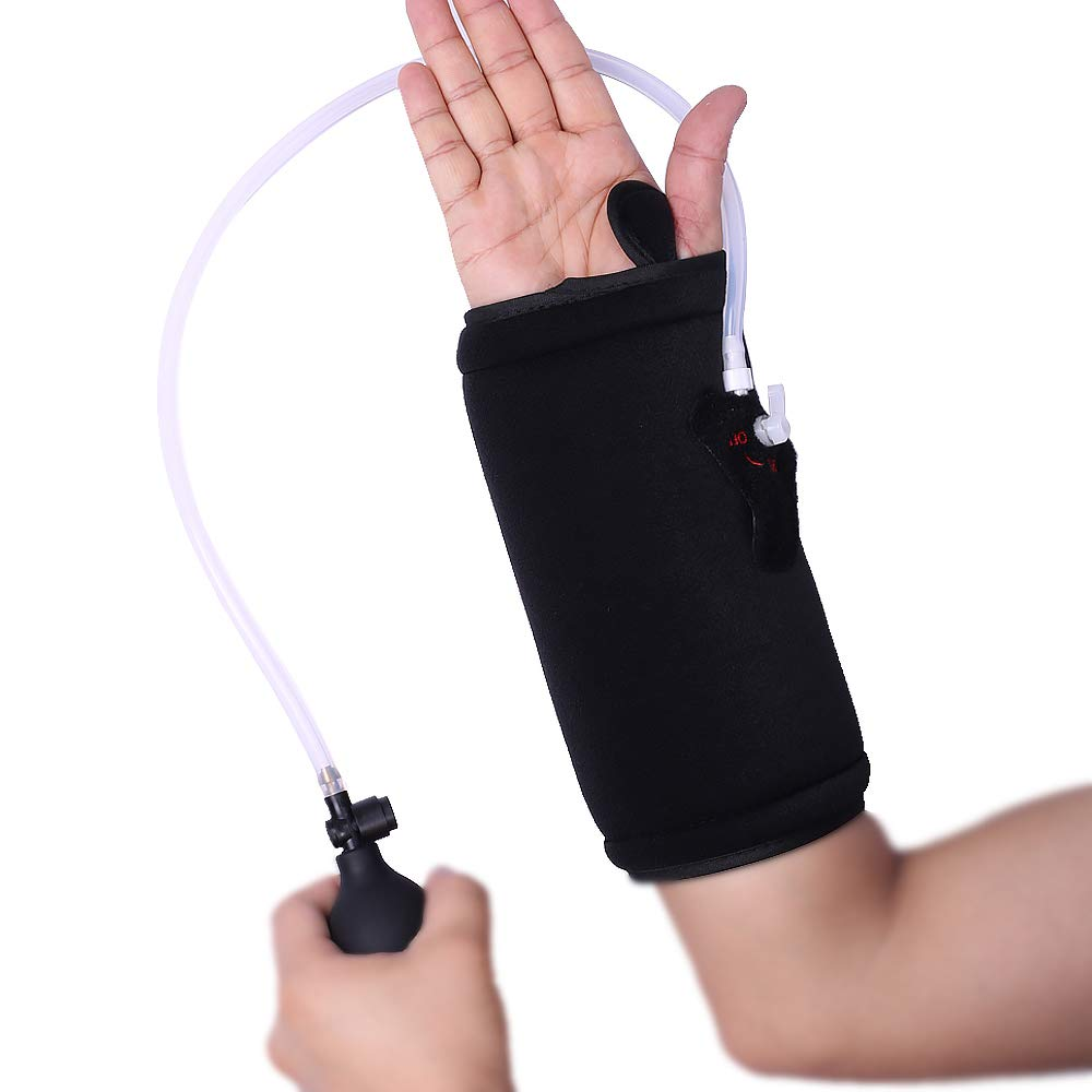 Hot/Cold Therapy & Air Compression Wrist Support Wrap for Alleviating Wrist Pain Swelling Tendonitis Sprains and Increase Circulation by Medibot