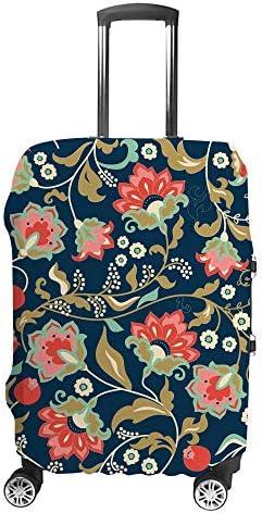 スーツケースカバー トラベルケース 荷物カバー 弾性素材 傷を防ぐ ほこりや汚れを防ぐ 個性 出張 男性と女性カラフルな花柄