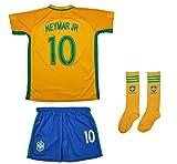 #2: AMDS Soccer Youth Jersey Set ● Brazil ● Home Jersey ● 2017 2018 ● # 10 Neymar