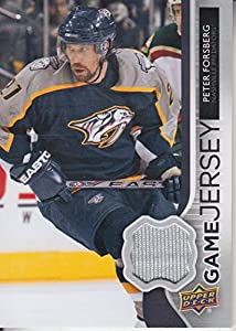 2014-15 (PREDATORS) Upper Deck Game Jerseys #GJFO Peter Forsberg C