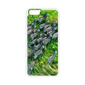 Case For iPhone 6 Plus, Zebras Case For iPhone 6 Plus, White