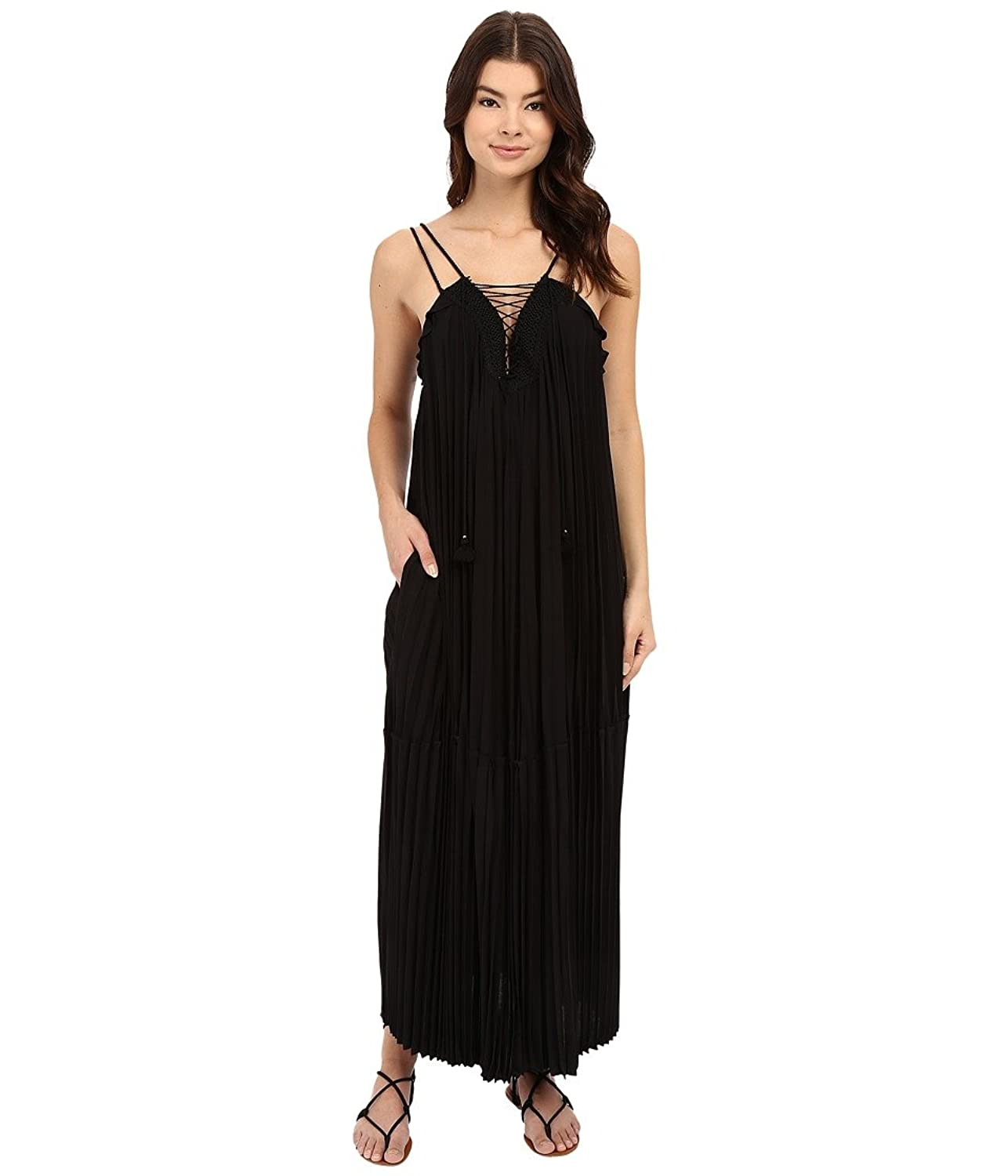 Rachel Zoe Women's Sybilla Pleated Lace-Up Maxi