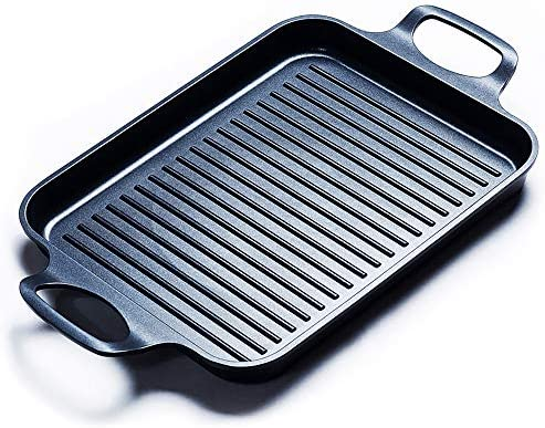 S·KITCHN Grill Pan Griddle Grill with Du