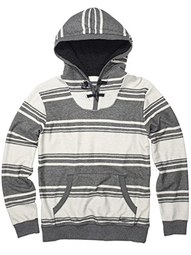 Billabong Rasta Stripes Hoodie Grey Marley