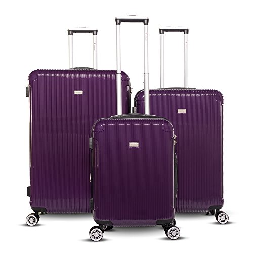 Gabbiano Genova Collection 3-piece Hardside Spinner Set (Amethyst) by Gabbiano Luggage