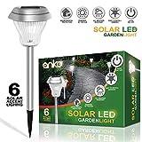 Solar-Power LED Garden Lights[Set of 6 Pack], ANKO 2Color Switch (White & ...