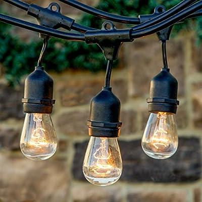 Feit Electric Commercial Grade Outdoor Weatherproof Patio, Garden, Decorative Accent String Light Set, 48 foot, 24 Light Sockets