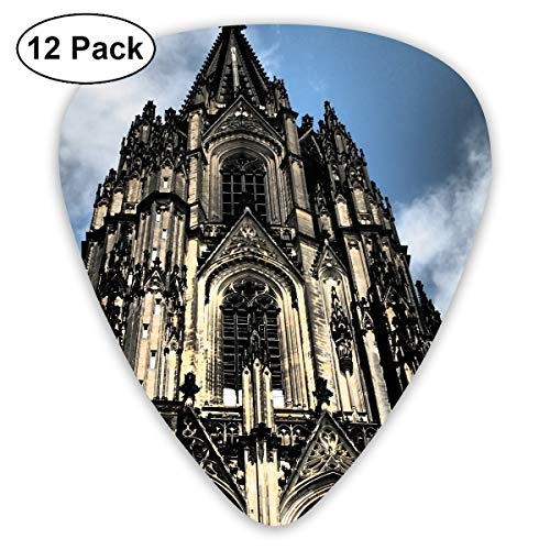HaSaKa Cologne Cathedral Germany Blue Sky Guitar Pick 0.46mm 0.73mm 0.96mm 12pack,Suitable for All Kinds of Guitars