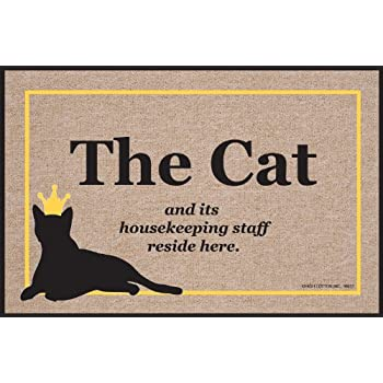 High Cotton Cat Housekeeping Staff New Doormat  sc 1 st  Amazon.com & Amazon.com : High Cotton Cat Housekeeping Staff New Doormat ...