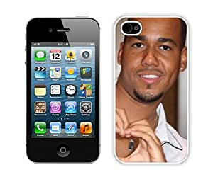 Popular And Durable Custom Designed Case For iPhone 4 With Romeo Santos Man Smile Teeth Bracelet White Phone Case