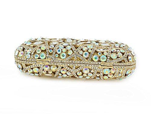 De De Main Diamant à Mode Luxe De De D'épaule Cristal De Sac De De Sac Dames gold D'embrayage De Dîner Sac Strass Sac Banquet Sac En Soirée Complet 5BvwY