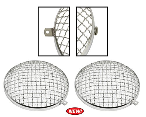 Headlight Stone Guard, Fits Beetle 67-79, Bus 68-79, Pair, Compatible with VW and Dune Buggy