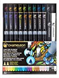 chameleon color tones - Chameleon Art Products, Chameleon 22-Pen Deluxe Set