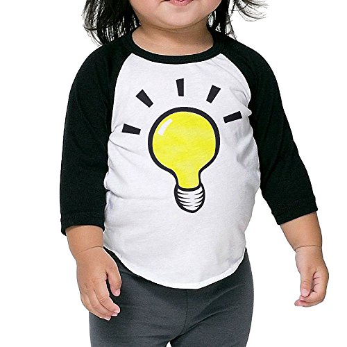 Cute Light Beyond The Bulb Beer Kid's Sleeve Raglan Clothes Unisex 3 Toddler Customize (Plug Light Socket Costume)