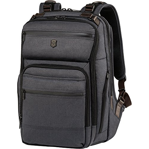 Victorinox Architecture Urban Rath Laptop Backpack, Grey/Brown, One Size by Victorinox