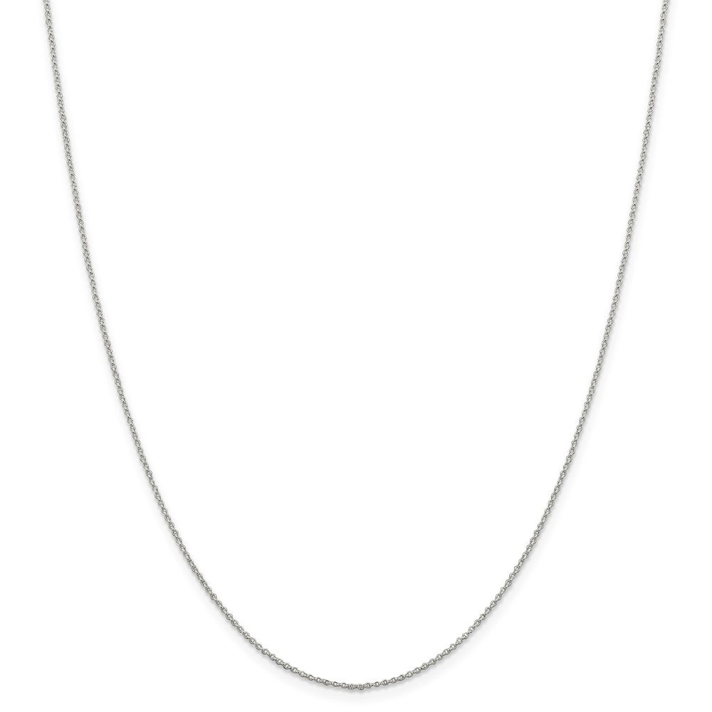 Sterling Silver 1.1 MM Rolo Chain Necklace