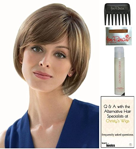 Cassidy Wig by Amore, 15 Page Christy's Wigs Q & A Booklet, 2oz Travel Size Wig Shampoo, Wig Cap & Wide Tooth Comb COLOR SELECTED: TOASTED BROWN ()