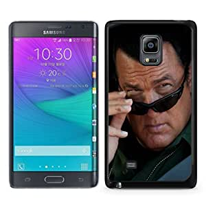 Fashionable Samsung Galaxy Note Edge Case ,Unique And Popular Designed Case With steven seagal brunette glasses car face 35063 Black Samsung Galaxy Note Edge Great Quality Screen Case