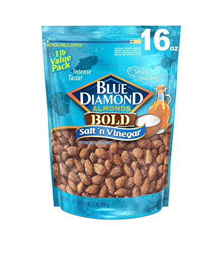 Blue Diamond Almonds, Bold Salt 'n Vinegar, 16 (Blue Snack)