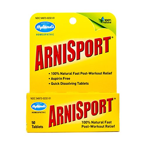 Arnica for Post Workout Muscle Relief by Hyland's, 50 Count Quick Dissolving Tablets