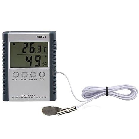 Termómetro digital, higrómetro. Medidor de temperatura y humedad en el