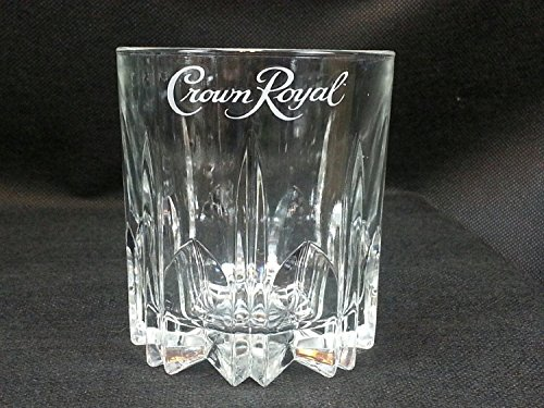 Crown Royal Whiskey Crystal Cut Starburst Pattern Lowball Rocks - Starburst Pattern