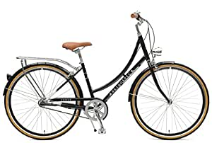 Retrospec Venus Dutch Step-Thru City Comfort Hybrid Bike, Black, 1- Speed / 38cm, s/m